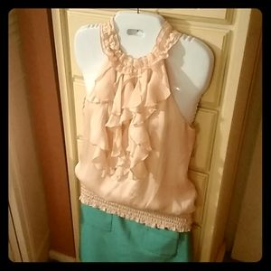 Blouse kohl's s small juniors not new peach
